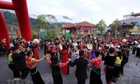 Das Fest zum Con-Werfen zwischen Vietnam, Laos und China