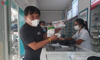 Ausreichendes Material für die Herstellung der medizinischen Mundschutzmasken in Vietnam