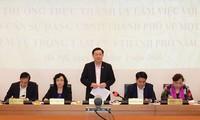 Die Parteileitung von Hanoi diskutiert über Maßnahmen zur sozial-wirtschaftlichen Entwicklung