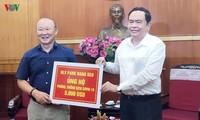 Trainer Park Hang-seo unterstützt die Stiftung gegen das Covid-19 mit 5000 US-Dollar