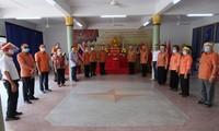 Die Vietnamesen in Udon Thani in Thailand feiern den Gedenktag der Hung-Könige