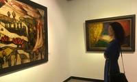 Ausstellung der Lackbilder in Hanoi