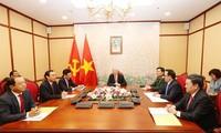 KPV-Generalsekretär Nguyen Phu Trong führt Telefongespräch mit Russlands Präsident