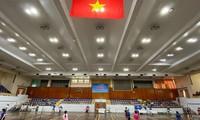 Eröffnung des Badminton-Turniers für Familien in Hanoi