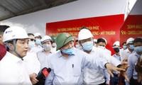 Premierminister fordert Garantie des Bautempos der Autobahn von Trung Luong nach My Thuan