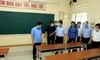 Sicherheitsschutz für Abschlussprüfung der Oberschulen
