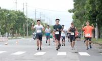 Beginn des Laufwettbewerbs für Wohltätigkeit