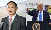 Der neue japanische Premierminister Suga Yoshihide und US-Präsident Donald Trump führen Telefonat