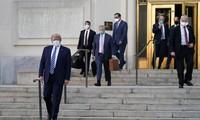 US-Präsident Donald Trump verlässt Krankenhaus