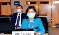 Abschlussveranstaltung der Sitzung des UN-Menschenrechtsrats
