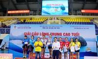 Abschluss des Badminton-Turniers für Senioren