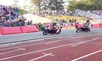 Stopp des Motorradrennens zum Neujahrsfest Tet in der Provinz Can Tho