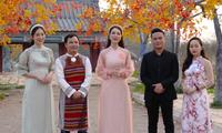 """Sänger und Sängerinnen beteiligen sich am Musikvideo """"strahlendes Vietnam"""""""