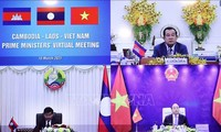 Premierminister Vietnams, Laos und Kambodschas führen virtuelles Dialog
