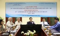 Treffen zum 50. Jahrestag des Volksfriedensvertrags zwischen Vietnam und den USA