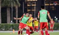 Die vietnamesische Fußballmannschaft kehrt wieder zum Training vor dem Spiel gegen Indonesien zurück