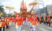 Stadt Mong Cai feiert das Fest im Tempel Tra Co