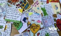 Liebesbotschaften von Kindern an die Front gegen die Epidemie