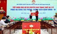 Hanoi erhält medizinische Ausrüstungen zur Covid-19-Bekämpfung