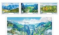 Publizierung der Briefmarken über drei globale Geoparks in Vietnam