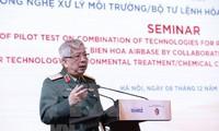 Les opérations de désintoxication de l'aérport de Biên Hoà se déroulent bien