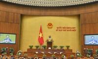 L'agenda de la dernière semaine de la onzième session, quatorzième législature