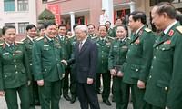 Tổng bí thư BCHTW Đảng Nguyễn Phú Trọng làm việc với Tổng cục Chính trị QĐNDVN