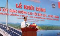 Thủ tướng Nguyễn Tấn Dũng dự lễ khởi công dự án đường cao tốc Bến Lức - Long Thành