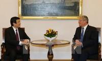 Президенты СРВ и ФРГ провели пресс-конференцию по итогам переговоров
