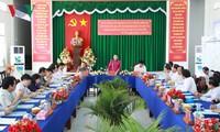 Нгуен Тхи Ким Нган осушествила надзор за подготовкой к выборам в провинции Хаузянг