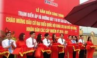 В связи с выборами в НС СРВ 14-го созыва в Ханое открыта новая подстанция
