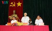 Генсекретарь ЦК КПВ посетил провинцию Бариа-Вунгтау с рабочим визитом