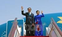 Президент СРВ Чан Дай Куанг с супругой начинает государственный визит в Японию