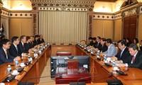 Руководитель города Хошимина принял председателя Федерации корейской промышленности