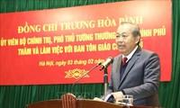 Чыонг Хоа Бинь: Не допустить злоупотребления религиозных вопросов для подрыва национального единства