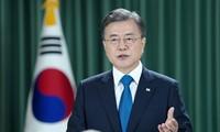 Президент Республики Корея попросил ООН помочь с официальным завершением войны с КНДР
