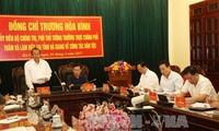 Deputi PM Vietnam, Truong Hoa Binh melakukan temu kerja dengan provinsi Ha Giang tentang pekerjaan di kalangan etnis