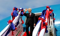 Sekjen KS PKV, Nguyen Phu Trong berangkat melakukan kunjungan kenegaraan ke Kerajaan Kamboja