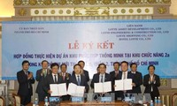 Upacara penandatanganan kontrak melaksanakan proyek ECO-SMART CITY diadakan di Kota Ho Chi Minh