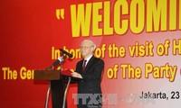 Sekjen KS PKV, Nguyen Phuc Trong: Percaya pada perkembangan-perkembangan baru dari kerjasama perdagangan dan investasi antara Vietnam dan Indonesia