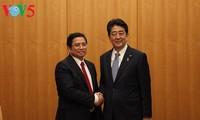 Pimpinan Pemerintah dan Majelis Rendah Jepang menerima delegasi Partai Komunis Vietnam