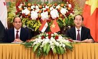 Presiden Vietnam, Tran Dai Quang memimpin resepsi khidmat untuk Presiden Mesir