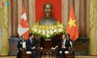 Presiden Vietnam, Tran Dai Quang memerima PM Kanada, Justin Trudeau
