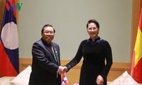 Ketua MN Vietnam, Nguyen Thi Kim Ngan menerima Wakil Ketua Parlemen Laos dan dua Wakil Ketua Majelis Rendah Kerajaan Maroko