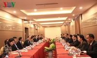 Ketua Parlemen Laos menilai tinggi laju pembangunan proyek membangun Gedung Parlemen Laos