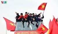 """Upacara penyambutan Tim U23 Vietnam menjadi """"indah secara mengejutkan"""" di mata media internasional"""