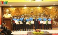Kota Hanoi memberikan penghargaan kepada Tim U23 Vietnam