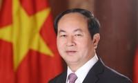 Presiden Vietnam, Tran Dai Quang menyambut baik gagasan-gagasan perkembangan India