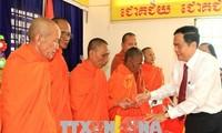Ketua Front Tanah Air Vietnam, mengucapkan selamat Hari Raya Tet Chol Chnam Thmay di Kota Can Tho