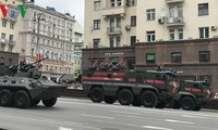 Gladi bersih sebelum berlangsung upacara parade sehubungan Hari Kemenangan Fasisme di Rusia (09/05)